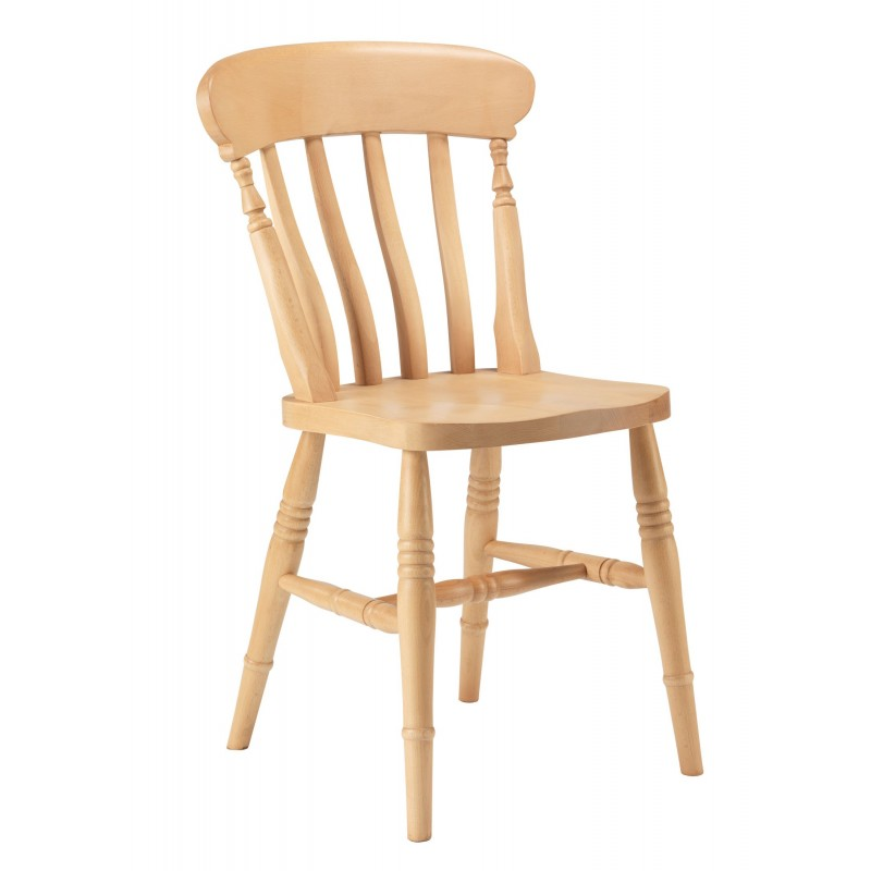 Slatted Back Chairs ~ Slat back beech chair