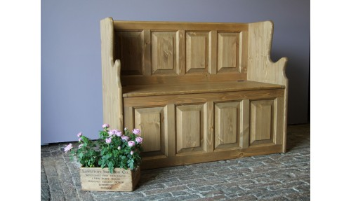 'Custom Design' Pine Monk's Bench / Settle