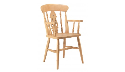 'Fiddle Back ' Beech Carver Chair