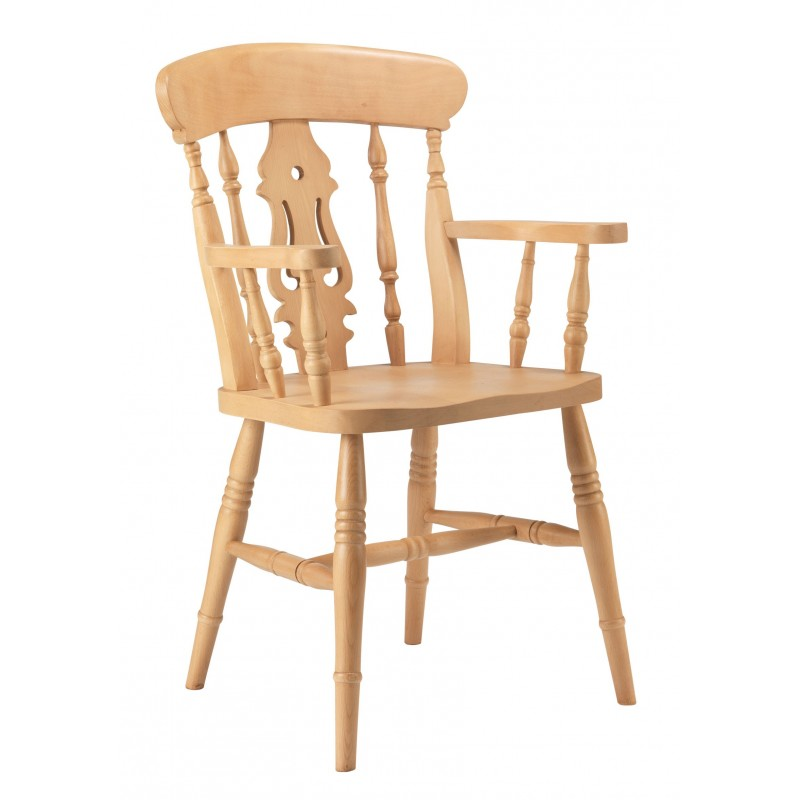 Fiddle Back Beech Carver Chair