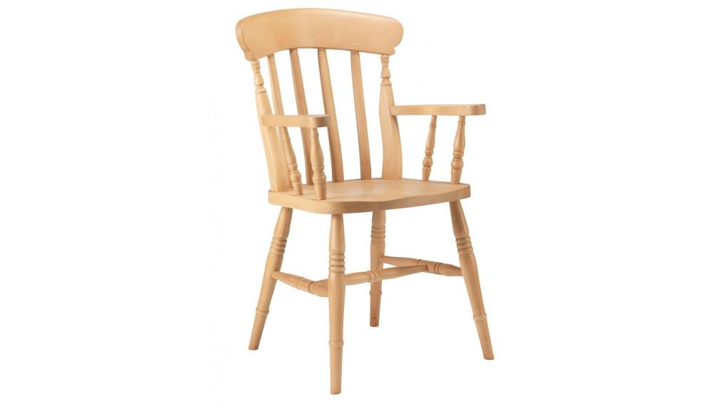 Slat Back Beech Carver Chair