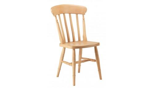 'Slat Back' Beech Chair - High Back