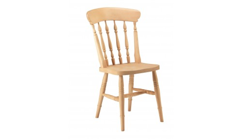 'Spindle Back' Beech Chair - High Back
