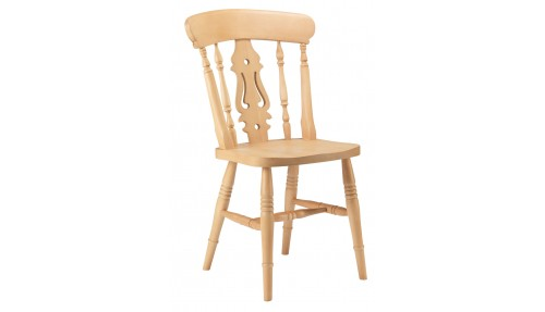 'Fiddle Back' Beech Chair - High Back