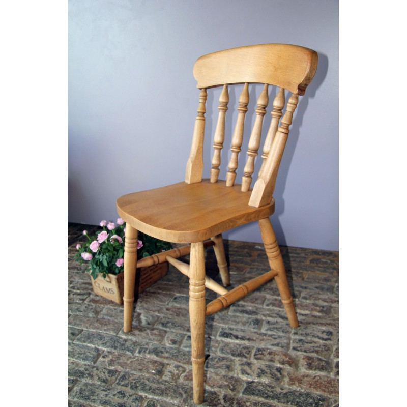 Spindle Back Beech Chair