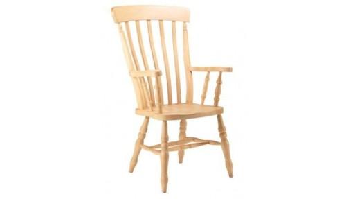 'Slat Back' Beech Chair - Grandad / Carver -High Back