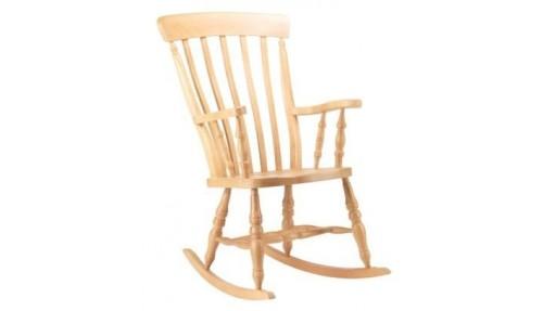 'Slat Back' Beech - Rocking Chair