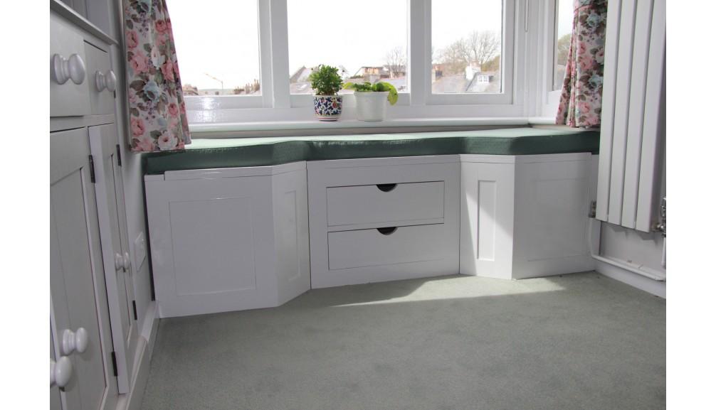 'Custom-Design' Window Seat - with drawers