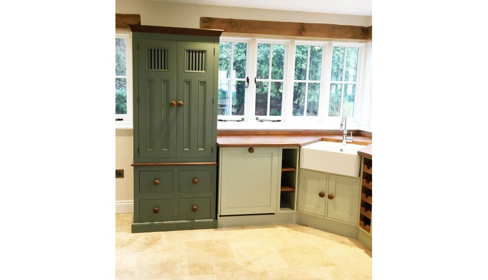 'Custom-Design' Kitchen Units with Provisions Cupboard