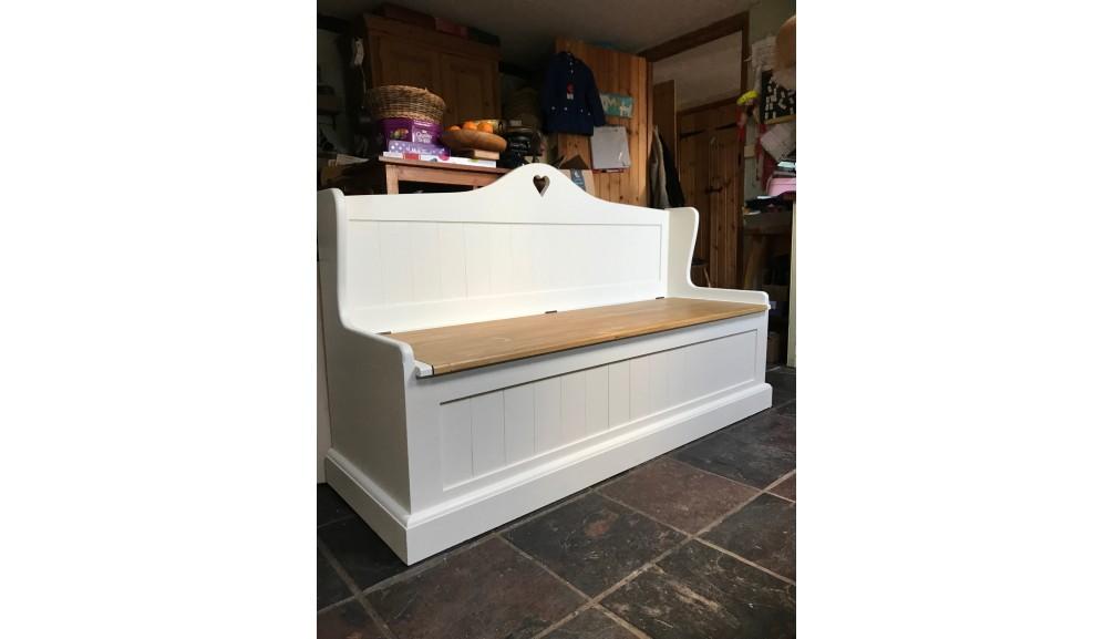 'Custom Design' Painted Monk's Bench / Settle