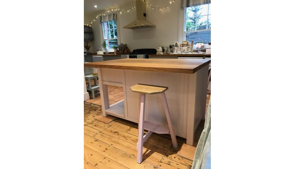 'Custom Design'- Island Unit With Oak Top