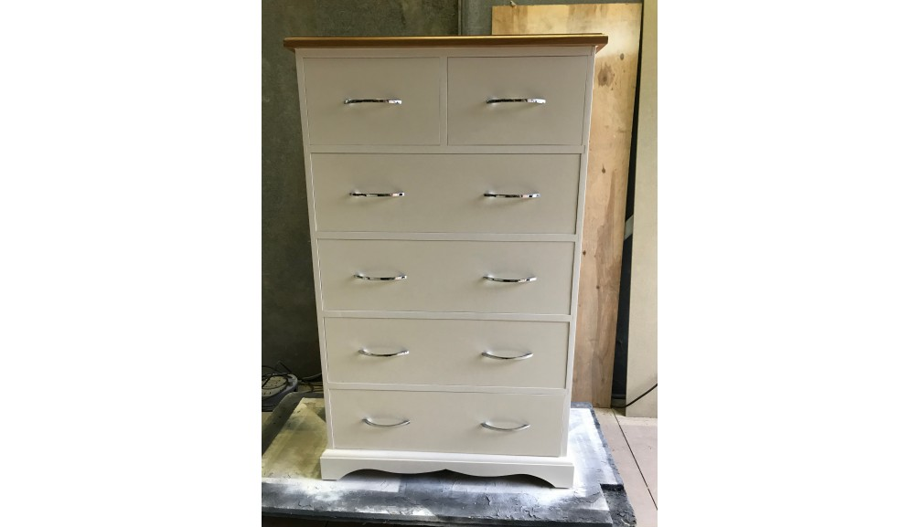 'Custom Made' 2 over 4 Chest of Drawers, Oak Top