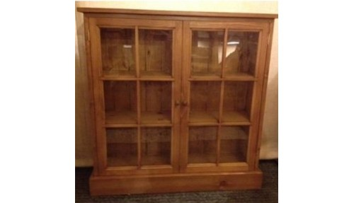 'Custom Design' Glazed Pine Display Cabinet