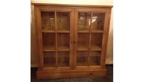 'Custom Design' Glazed Pine Display Cabinet